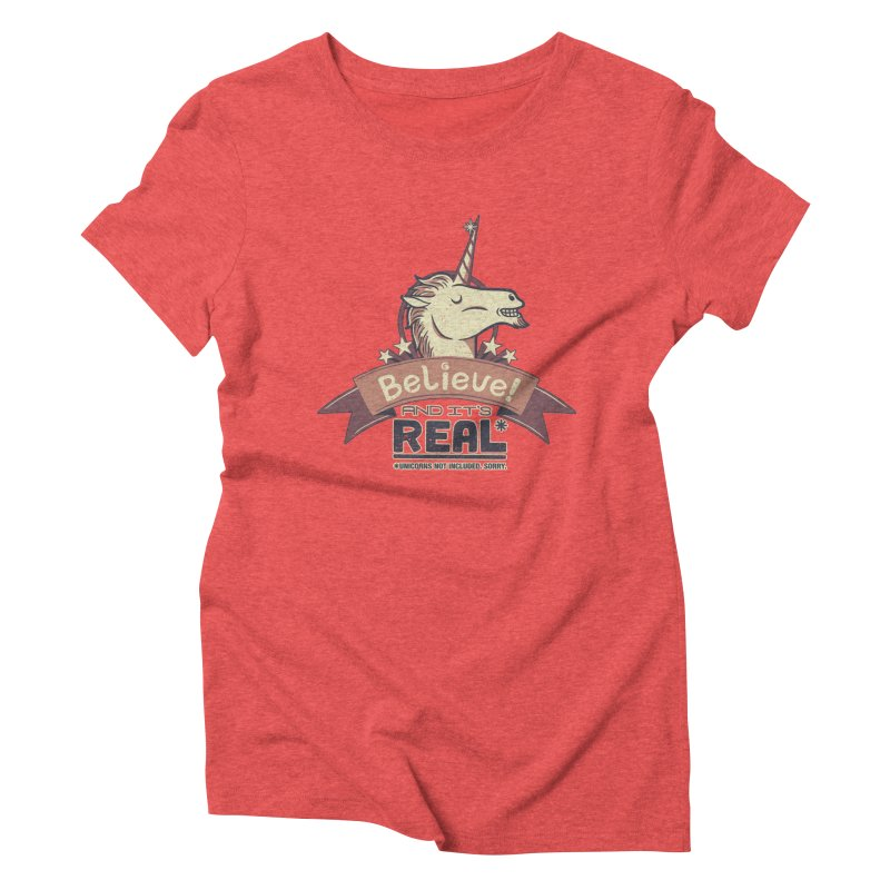 Unicorn Believe And Its Real Women's Triblend T-shirt by Tobe Fonseca's Artist Shop