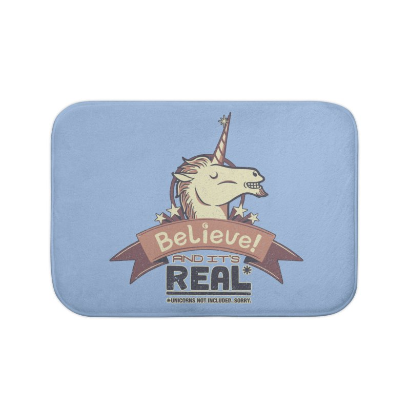 Unicorn Believe And Its Real Home Bath Mat by Tobe Fonseca's Artist Shop