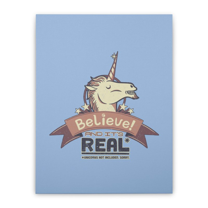 Unicorn Believe And Its Real Home Stretched Canvas by Tobe Fonseca's Artist Shop