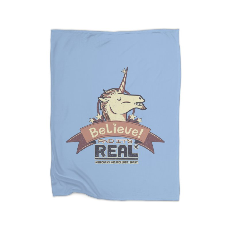Unicorn Believe And Its Real Home Blanket by Tobe Fonseca's Artist Shop