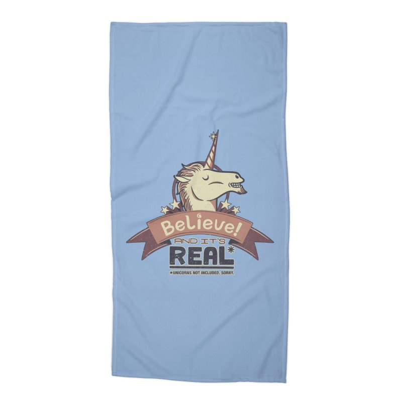 Unicorn Believe And Its Real Accessories Beach Towel by Tobe Fonseca's Artist Shop