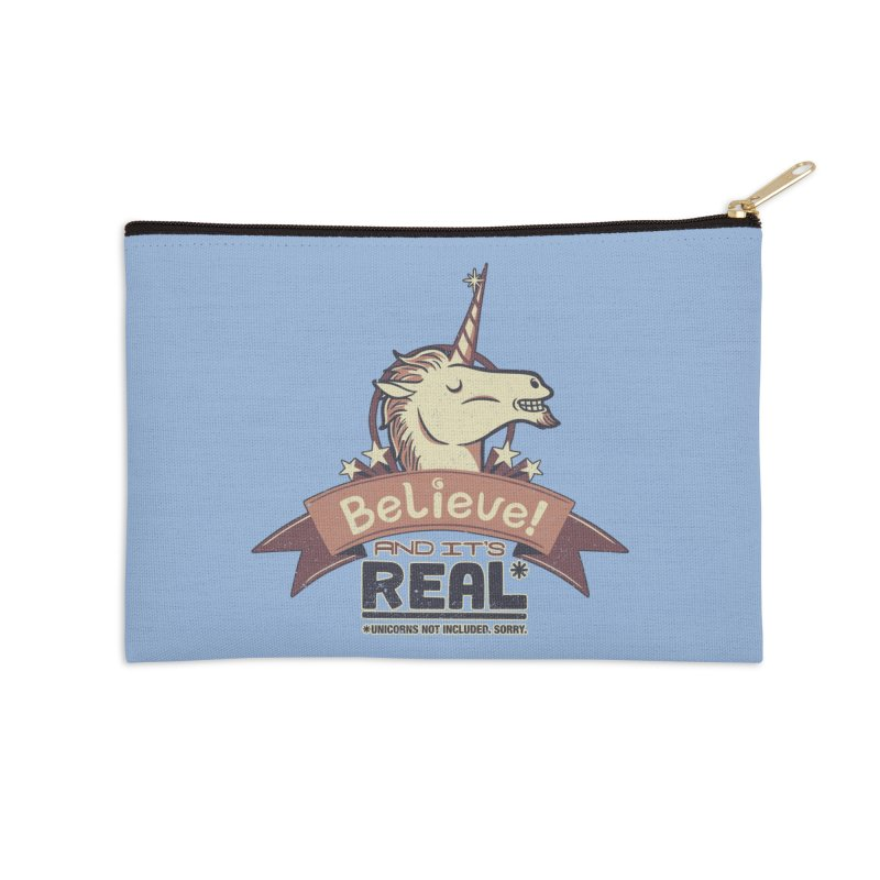 Unicorn Believe And Its Real Accessories Zip Pouch by Tobe Fonseca's Artist Shop