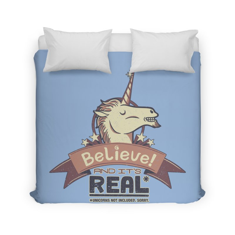 Unicorn Believe And Its Real Home Duvet by Tobe Fonseca's Artist Shop