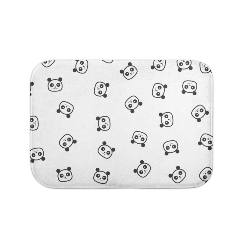 Pandamonio Panda Pattern Home Bath Mat by Tobe Fonseca's Artist Shop