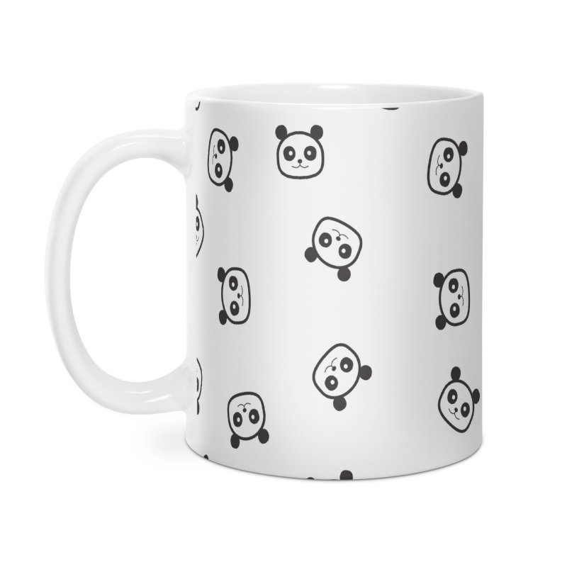 Pandamonio Panda Pattern Accessories Mug by Tobe Fonseca's Artist Shop
