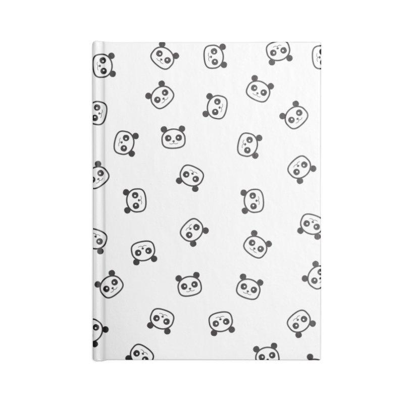 Pandamonio Panda Pattern Accessories Notebook by Tobe Fonseca's Artist Shop