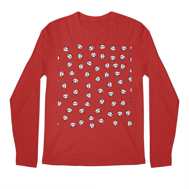 Pandamonio Panda Pattern Men's Longsleeve T-Shirt by Tobe Fonseca's Artist Shop