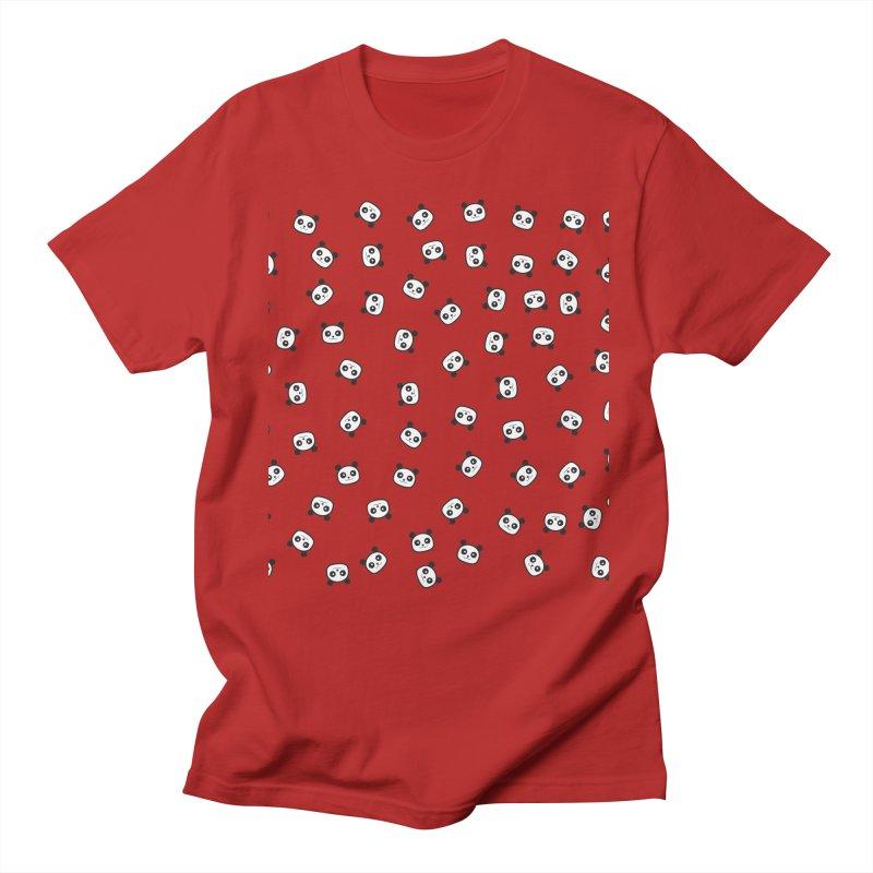 Pandamonio Panda Pattern Men's T-shirt by Tobe Fonseca's Artist Shop
