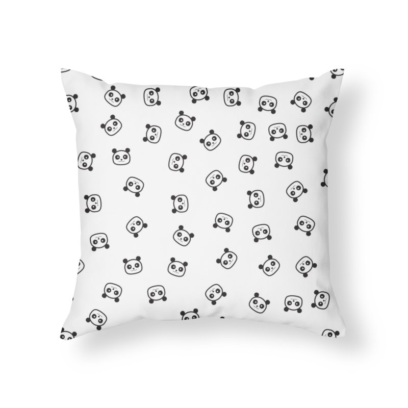 Pandamonio Panda Pattern Home Throw Pillow by Tobe Fonseca's Artist Shop