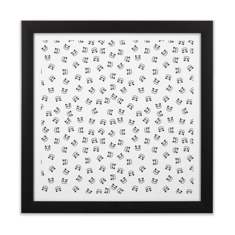 Pandamonio Panda Pattern Home Framed Fine Art Print by Tobe Fonseca's Artist Shop