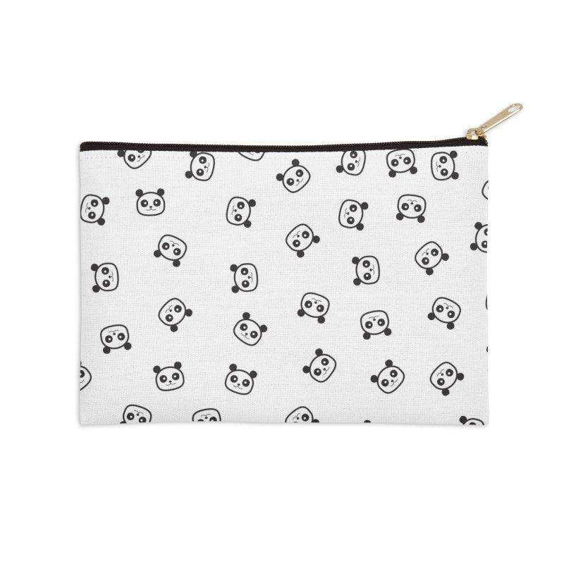 Pandamonio Panda Pattern Accessories Zip Pouch by Tobe Fonseca's Artist Shop