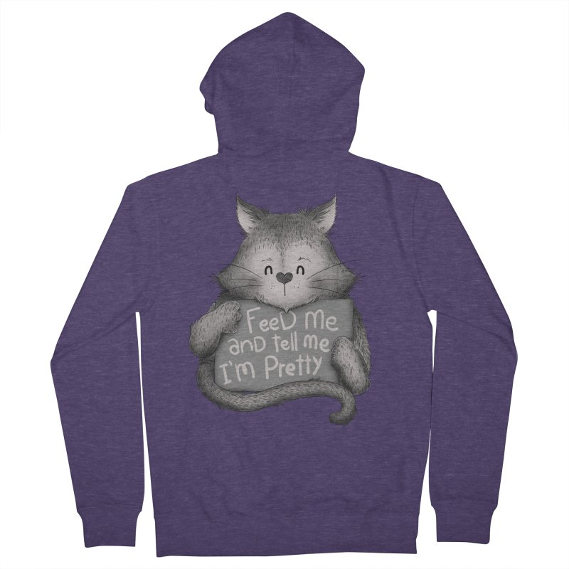 Feed Me And Tell Me I'm Pretty Cat Men's Zip-Up Hoody by Tobe Fonseca's Artist Shop