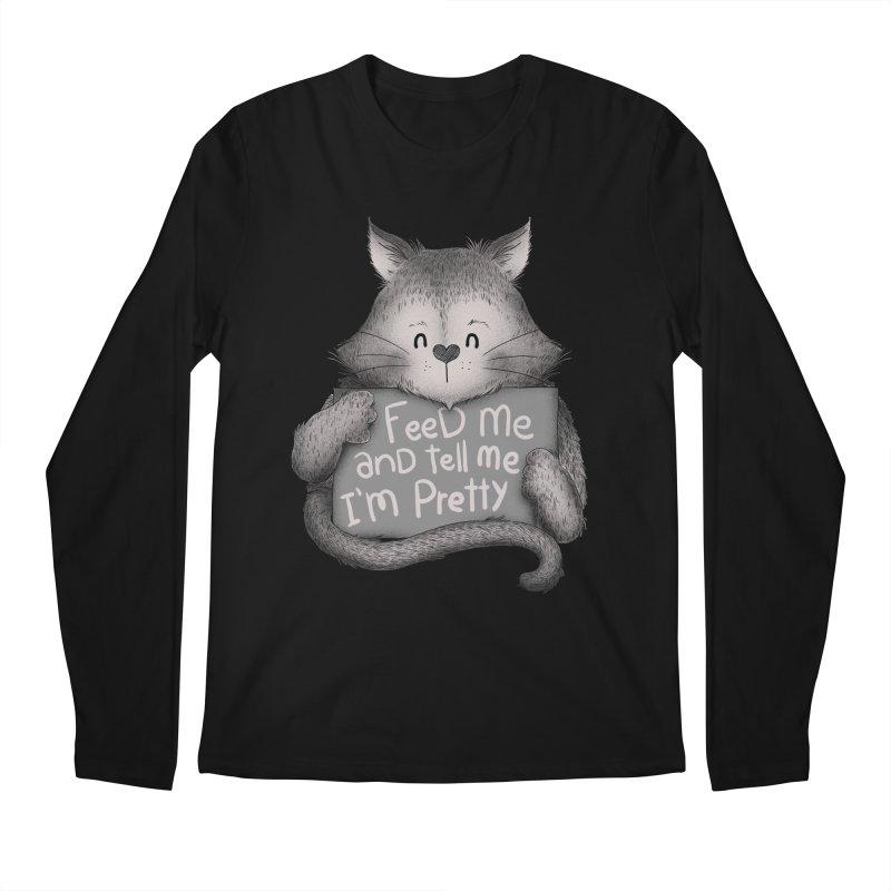 Feed Me And Tell Me I'm Pretty Cat Men's Longsleeve T-Shirt by Tobe Fonseca's Artist Shop