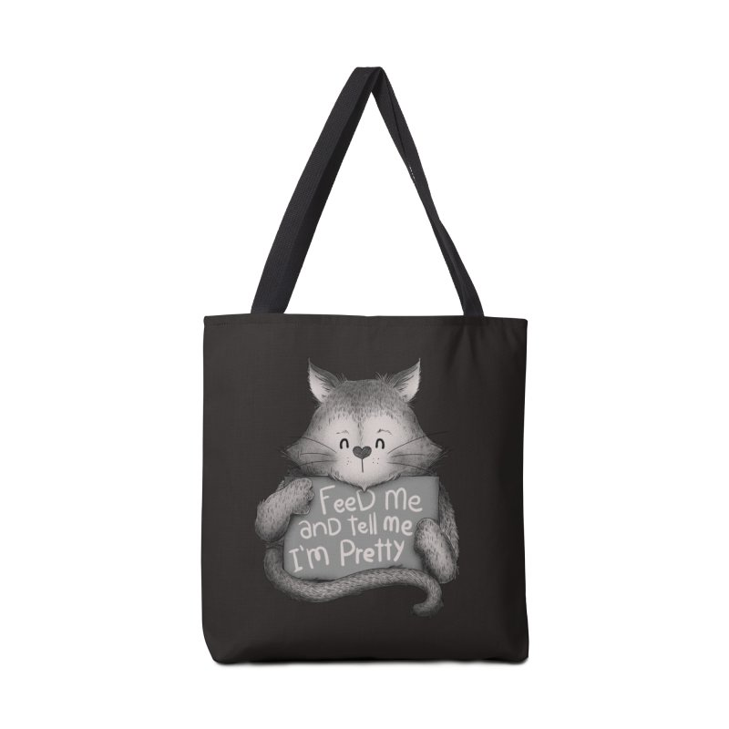 Feed Me And Tell Me I'm Pretty Cat Accessories Bag by Tobe Fonseca's Artist Shop