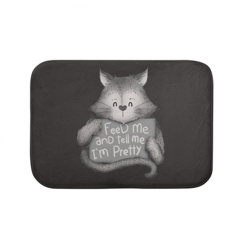 Feed Me And Tell Me I'm Pretty Cat Home Bath Mat by Tobe Fonseca's Artist Shop