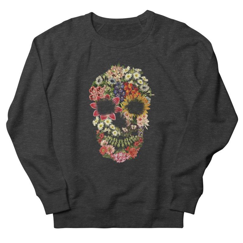 Floral Skull Vintage Black Women's Sweatshirt by Tobe Fonseca's Artist Shop