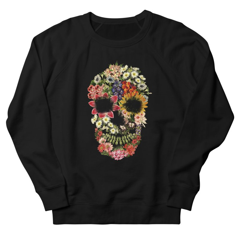 Floral Skull Vintage Black Men's Sweatshirt by Tobe Fonseca's Artist Shop