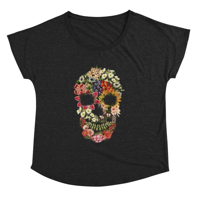 Floral Skull Vintage Black Women's Dolman by Tobe Fonseca's Artist Shop