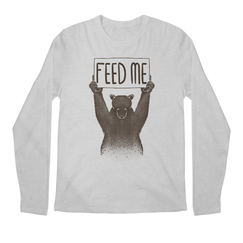 Feed Me Bear Men's Longsleeve T-Shirt by Tobe Fonseca's Artist Shop