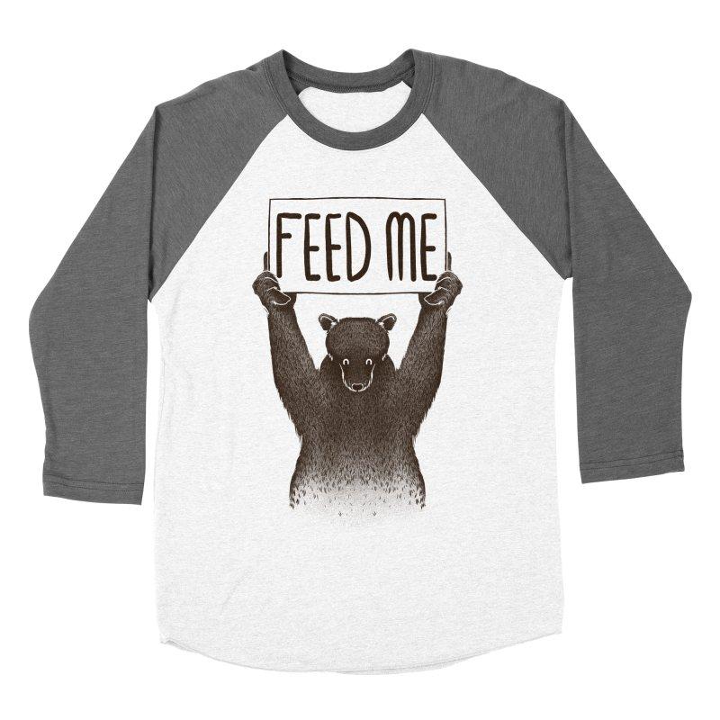 Feed Me Bear Women's Baseball Triblend T-Shirt by Tobe Fonseca's Artist Shop