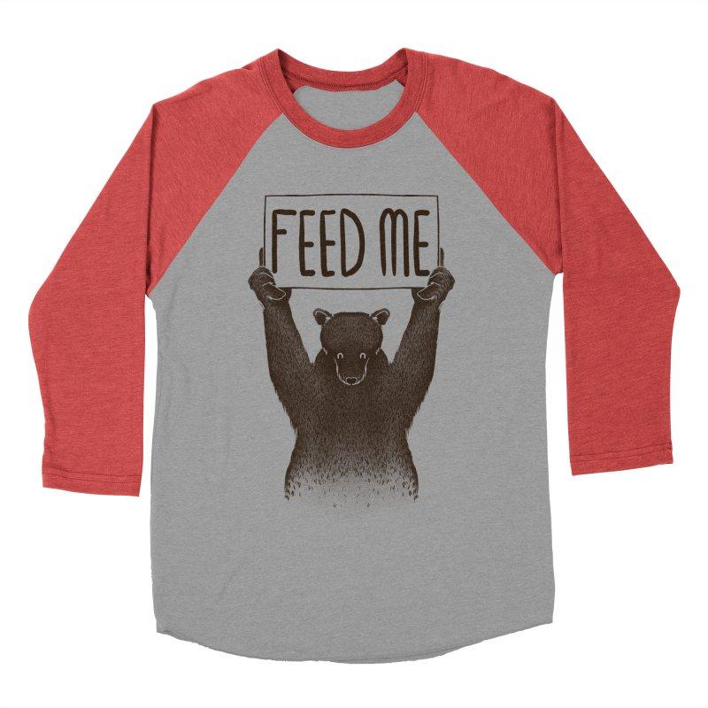 Feed Me Bear Men's Baseball Triblend T-Shirt by Tobe Fonseca's Artist Shop