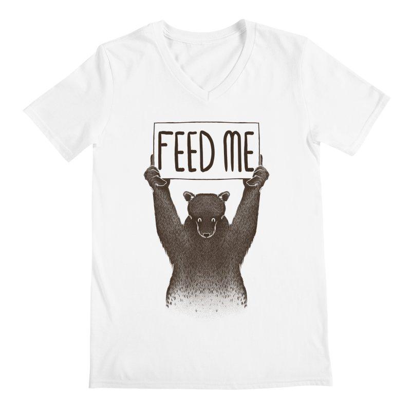 Feed Me Bear Men's V-Neck by Tobe Fonseca's Artist Shop