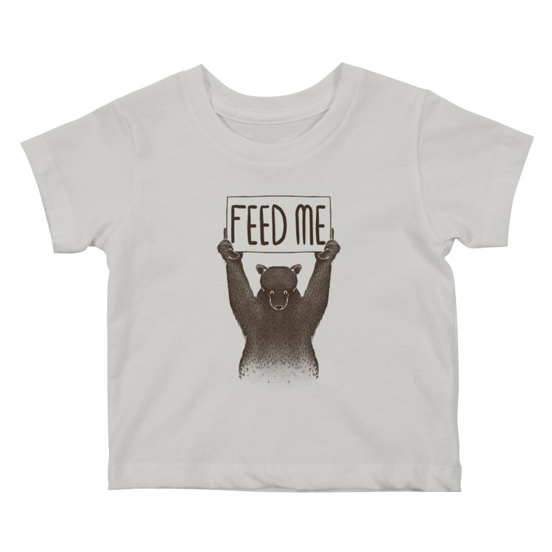 Feed Me Bear Kids Baby T-Shirt by Tobe Fonseca's Artist Shop