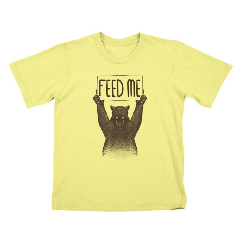 Feed Me Bear Kids T-shirt by Tobe Fonseca's Artist Shop