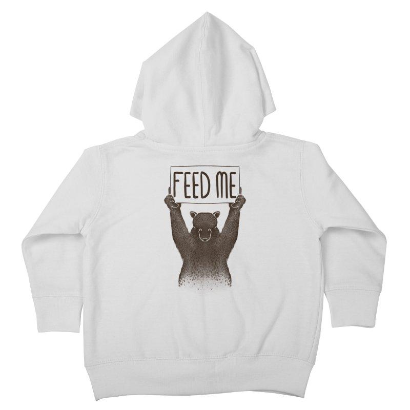 Feed Me Bear Kids Toddler Zip-Up Hoody by Tobe Fonseca's Artist Shop