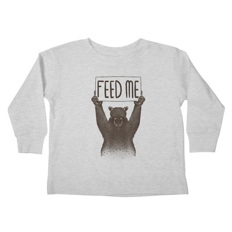 Feed Me Bear Kids Toddler Longsleeve T-Shirt by Tobe Fonseca's Artist Shop