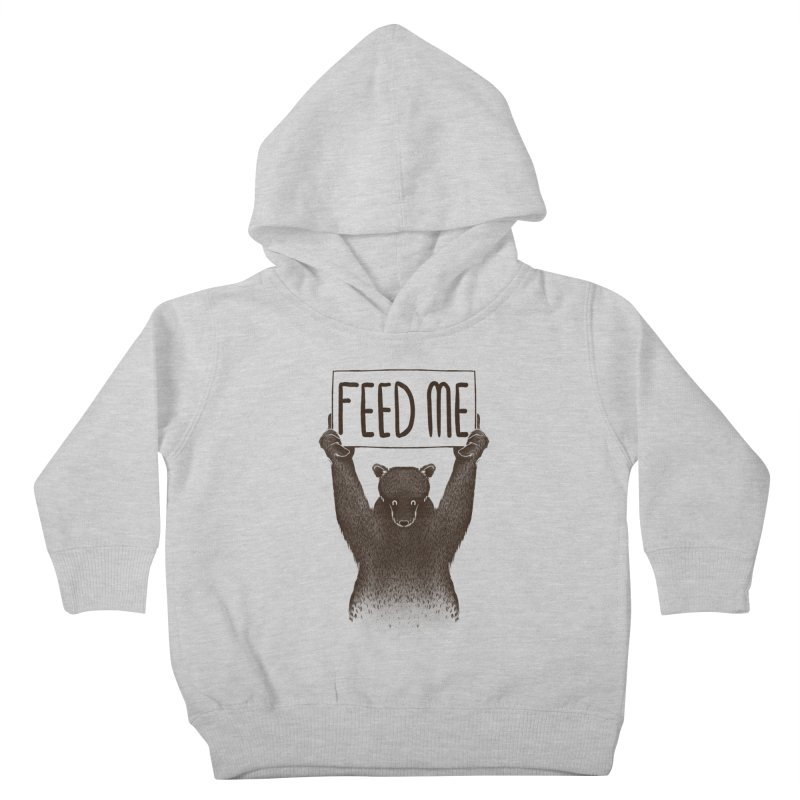Feed Me Bear Kids Toddler Pullover Hoody by Tobe Fonseca's Artist Shop