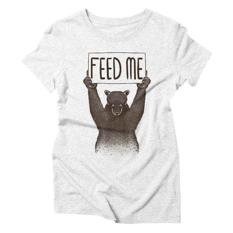 Feed Me Bear Women's Triblend T-shirt by Tobe Fonseca's Artist Shop