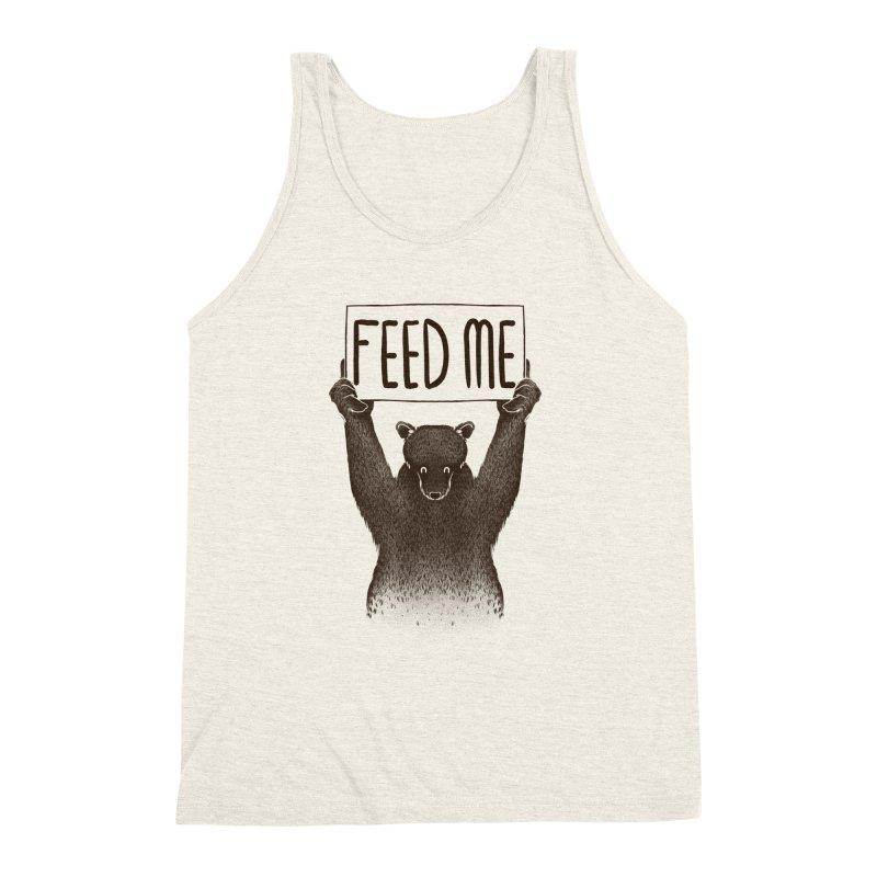 Feed Me Bear Men's Triblend Tank by Tobe Fonseca's Artist Shop