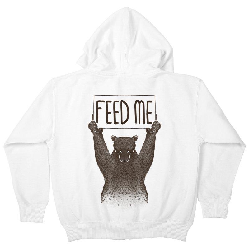Feed Me Bear Kids Zip-Up Hoody by Tobe Fonseca's Artist Shop