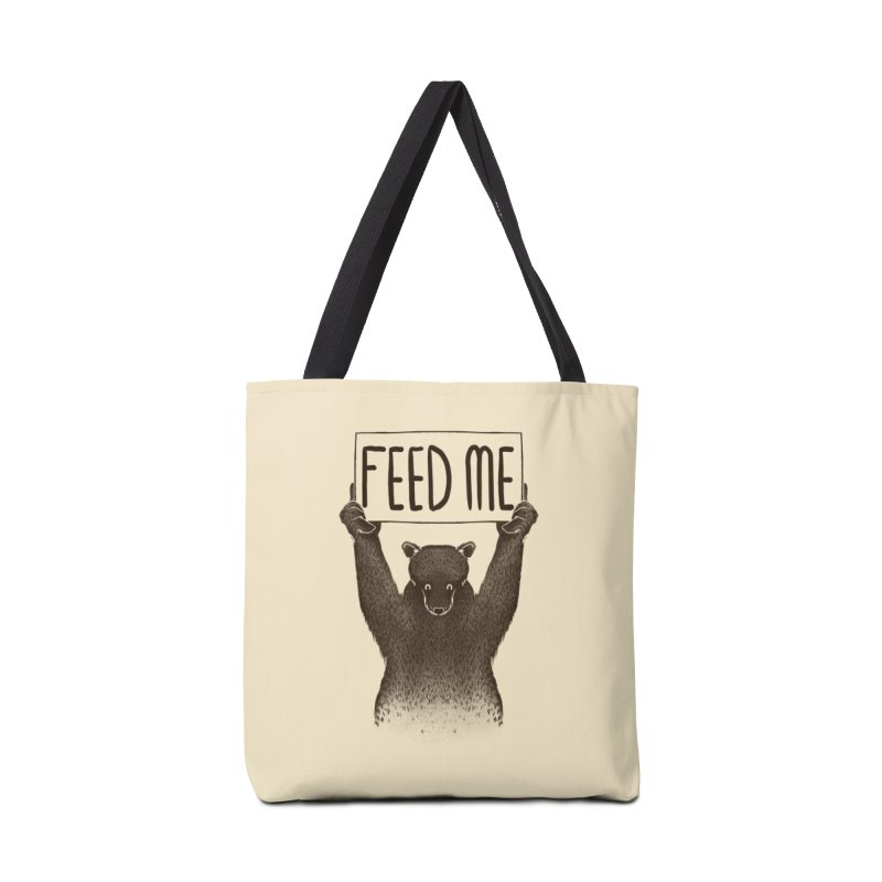 Feed Me Bear Accessories Bag by Tobe Fonseca's Artist Shop