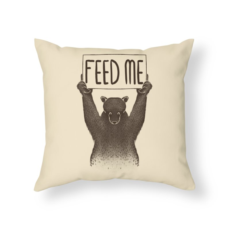 Feed Me Bear Home Throw Pillow by Tobe Fonseca's Artist Shop