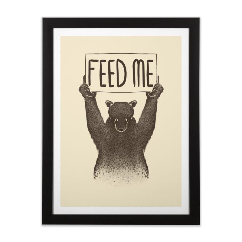 Feed Me Bear Home Framed Fine Art Print by Tobe Fonseca's Artist Shop