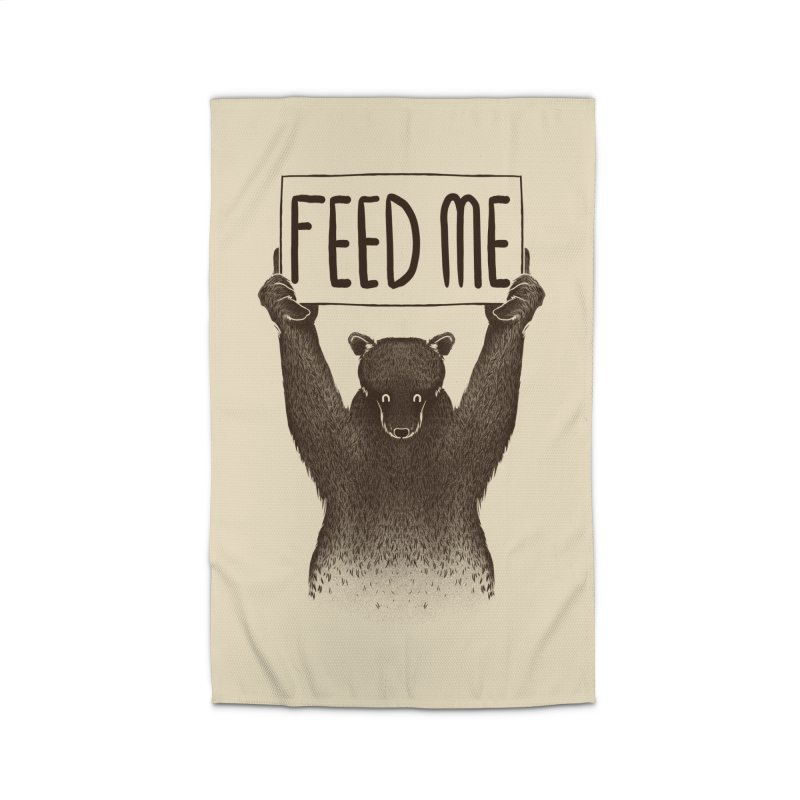 Feed Me Bear Home Rug by Tobe Fonseca's Artist Shop