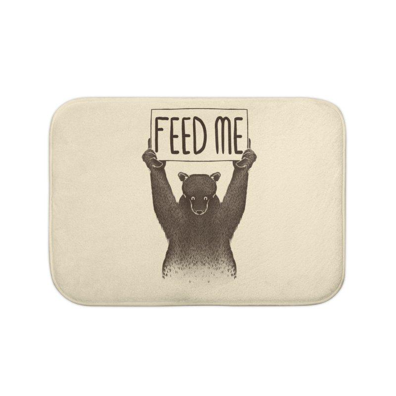 Feed Me Bear Home Bath Mat by Tobe Fonseca's Artist Shop