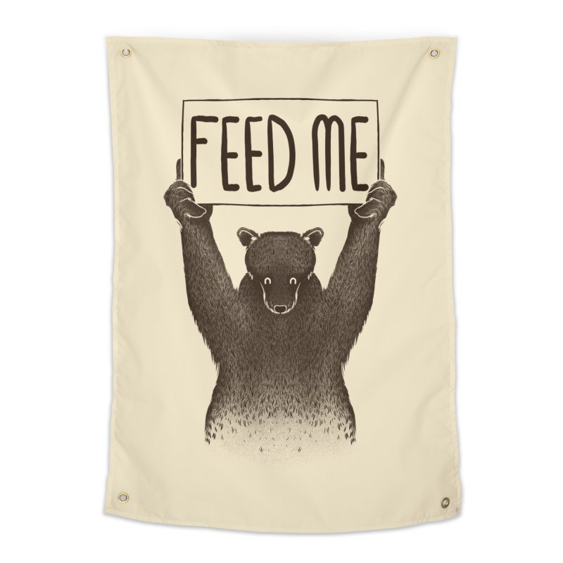 Feed Me Bear Home Tapestry by Tobe Fonseca's Artist Shop