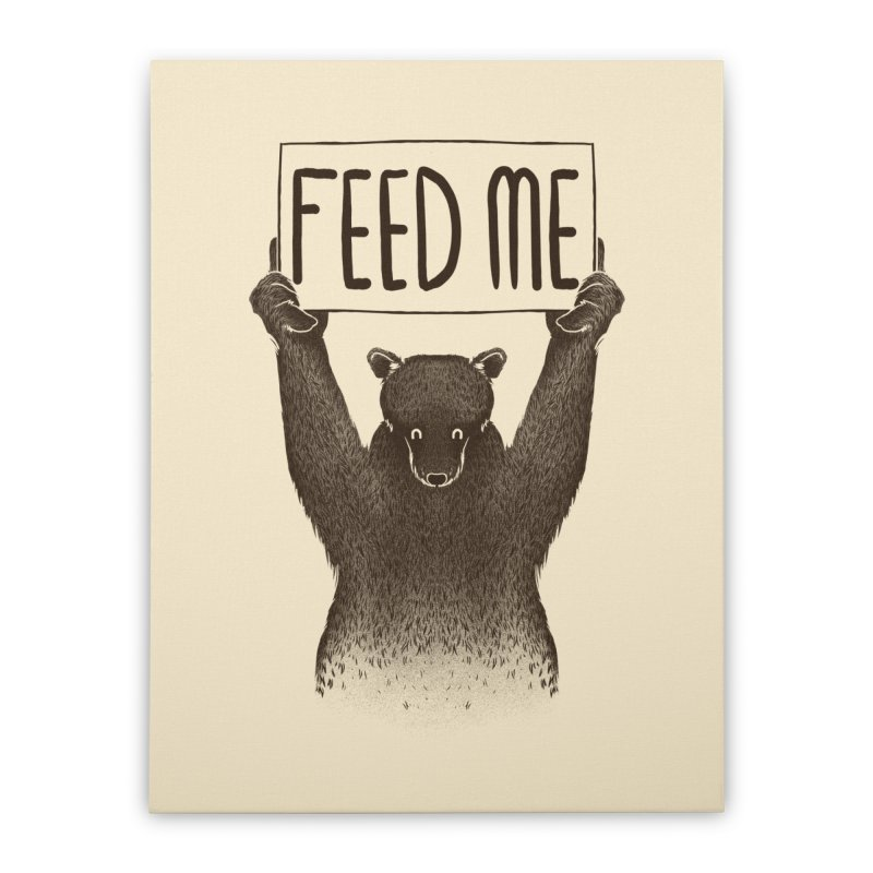 Feed Me Bear Home Stretched Canvas by Tobe Fonseca's Artist Shop