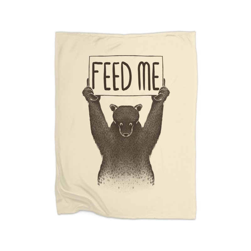 Feed Me Bear Home Blanket by Tobe Fonseca's Artist Shop