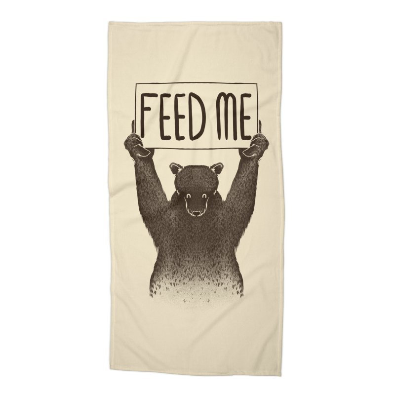 Feed Me Bear Accessories Beach Towel by Tobe Fonseca's Artist Shop