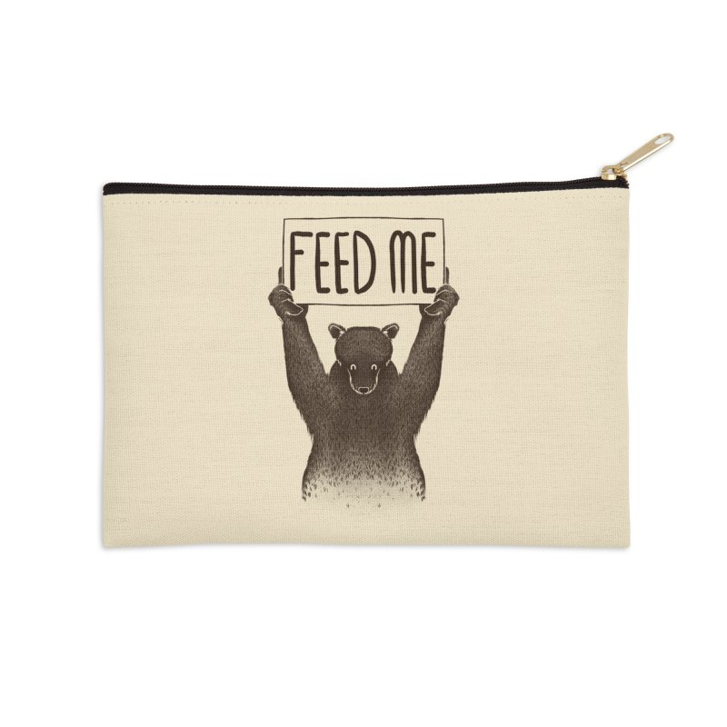 Feed Me Bear Accessories Zip Pouch by Tobe Fonseca's Artist Shop