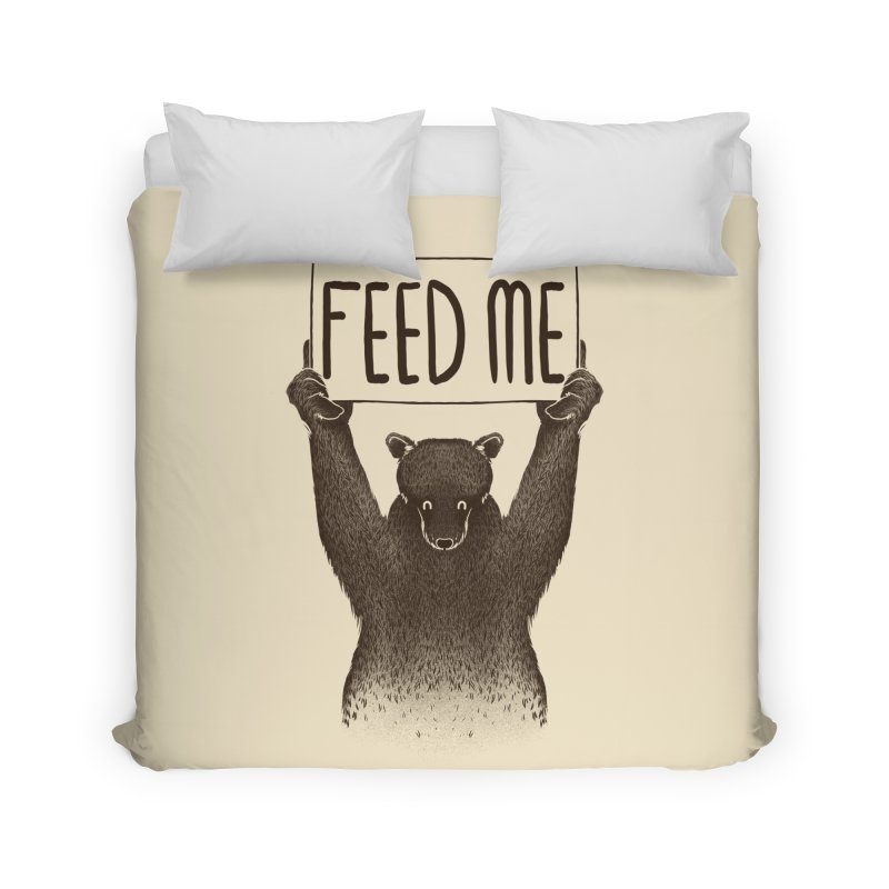 Feed Me Bear Home Duvet by Tobe Fonseca's Artist Shop