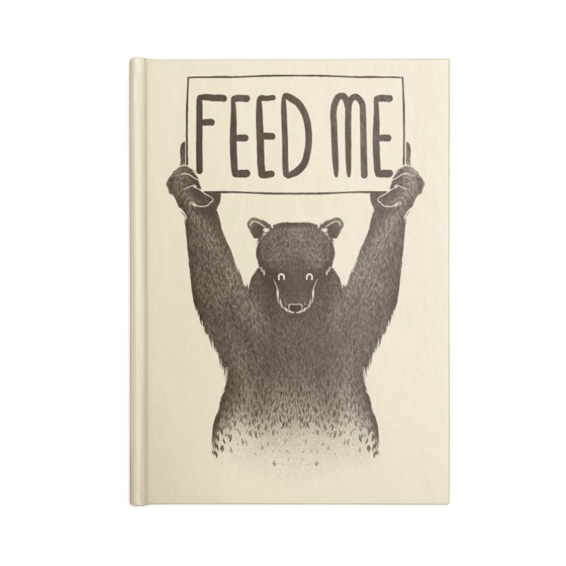 Feed Me Bear Accessories Notebook by Tobe Fonseca's Artist Shop