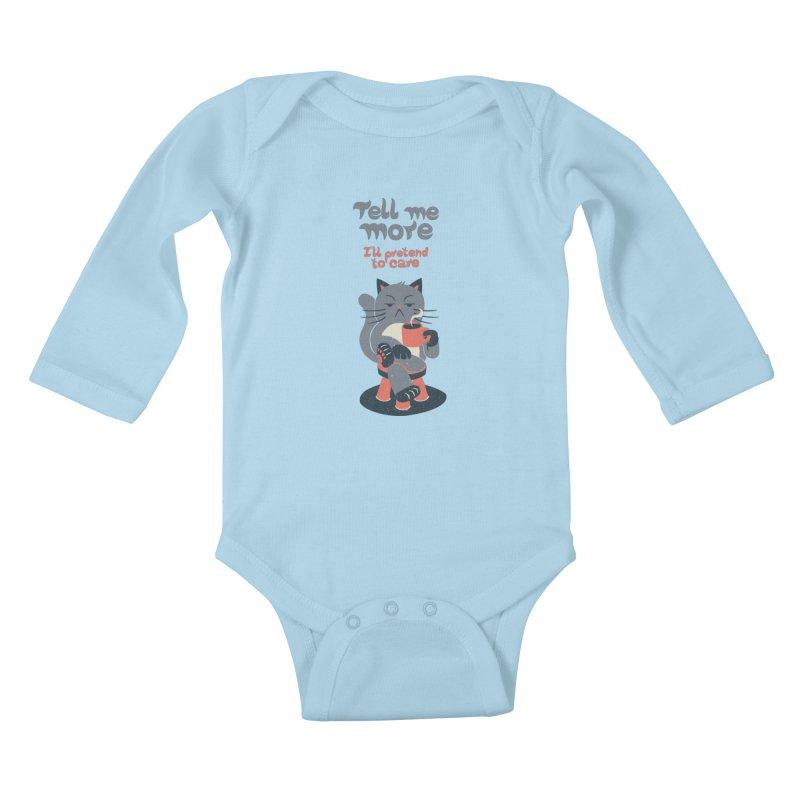 Ironicat Kids Baby Longsleeve Bodysuit by Tobe Fonseca's Artist Shop