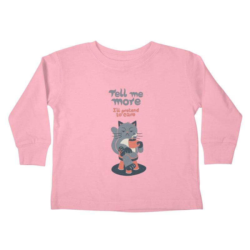 Ironicat Kids Toddler Longsleeve T-Shirt by Tobe Fonseca's Artist Shop