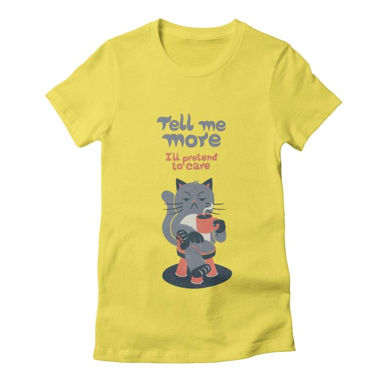 Ironicat Women's Fitted T-Shirt by Tobe Fonseca's Artist Shop