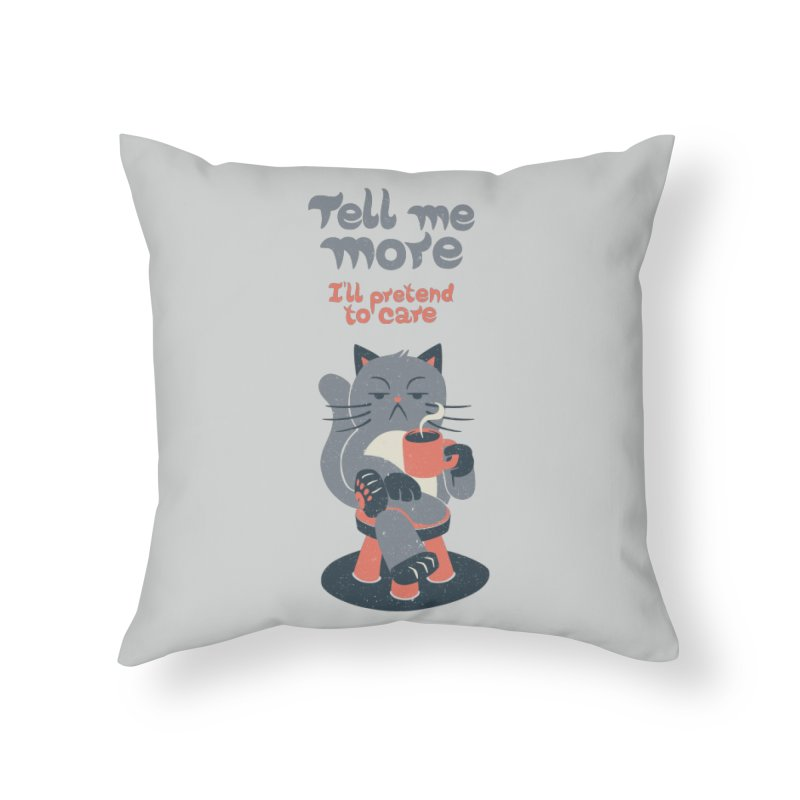 Ironicat Home Throw Pillow by Tobe Fonseca's Artist Shop